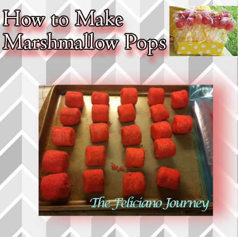 The Feliciano Journey marshmallow-pops  The Feliciano Journey marshmallow-pops-ingredients  The Feliciano Journey marshmallow-pops-drying