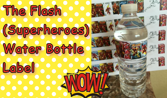the flash water bottle label