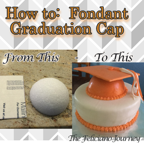 The Feliciano Journey fondant-grad-cap