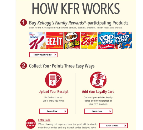 Kellogg's Family Rewards – New Code (100 pts) 12/15/15