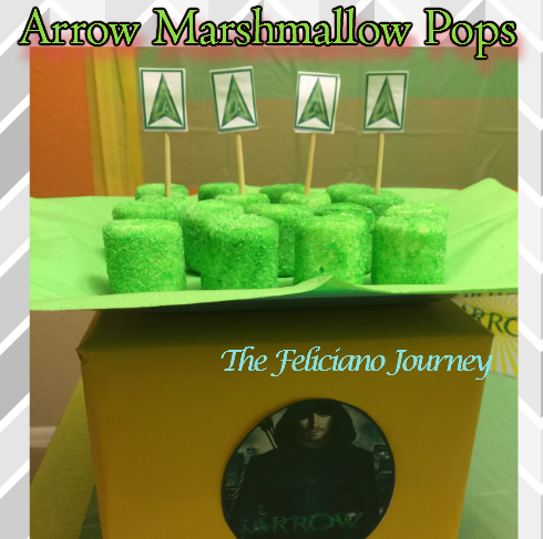 arrow marshmallow pops