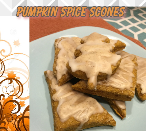 Wheat Mini Pumpkin Spice Scones