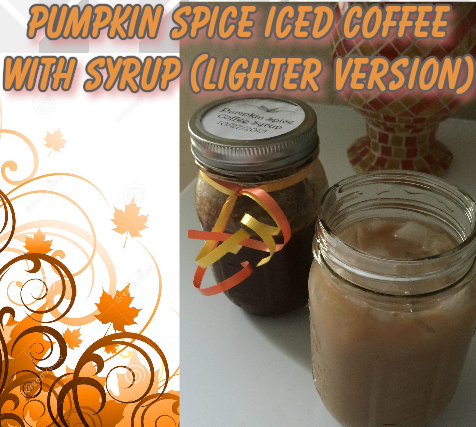 pumpkin spice iced coffee syrup