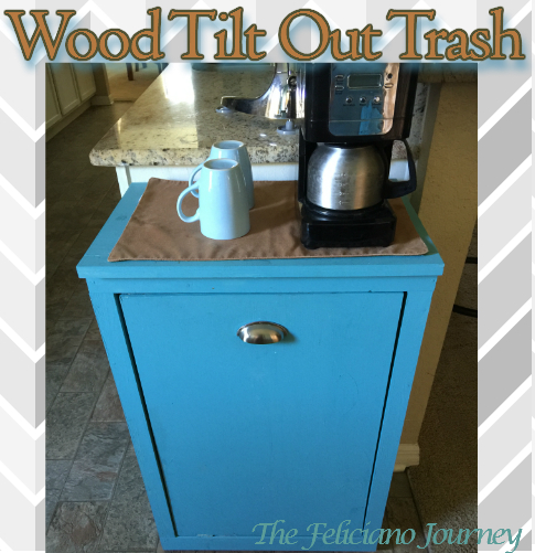 Diy Wood Tilt Out Trash Bin