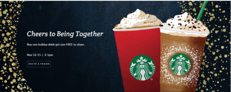 Starbucks BOGO Holiday Drink (starting today)