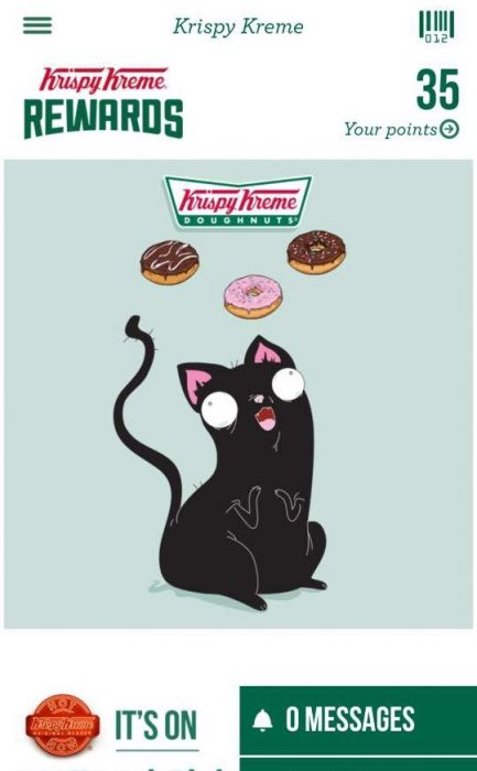Buying Krispy Kreme calendar – install there app so you can get points too