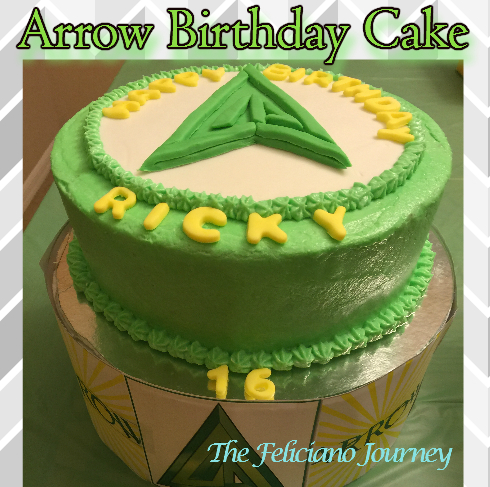 The Feliciano Journey arrow-cake