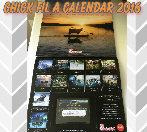 Chick Fil A Calendar 2016 (Sneak Peek & Free List Items)