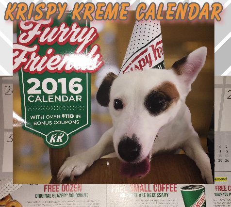 Krispy Kreme 2016 Calendar is now available & Get a Free doughnut too