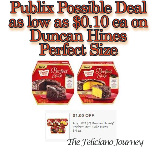 Publix D.Hines Perfect Size possibly as low as $0.10 starting today