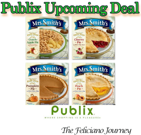 Publix Mrs. Smith's Pies as low as $2.50 each (starts tomorrow)
