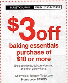 Target Baking Coupon Starting 12/13