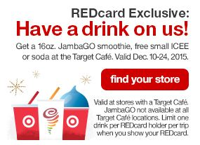 Target RedCard Free Drinks (starting 12/10)