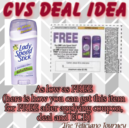 CVS Lady Speed Stick as low as FREE