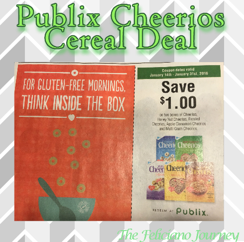 Publix Cheerios Cereal Deal as low as $0.62 each