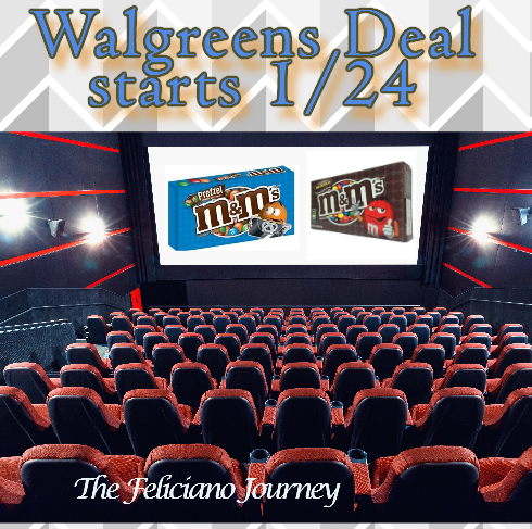 Walgreens M&Ms theater pack as low as $0.30 (starts today)