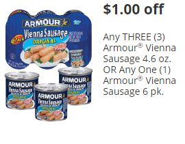 Publix Armour Vienna Deal (as low as $0.17 each)