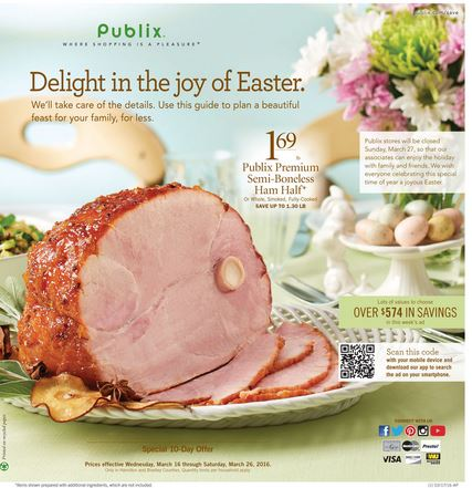 Publix Highlights for the week starting 3/17/16 (today)