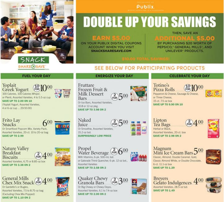 Publix Snack Share Save Trip Scenario 3 (Moneymaker trip)