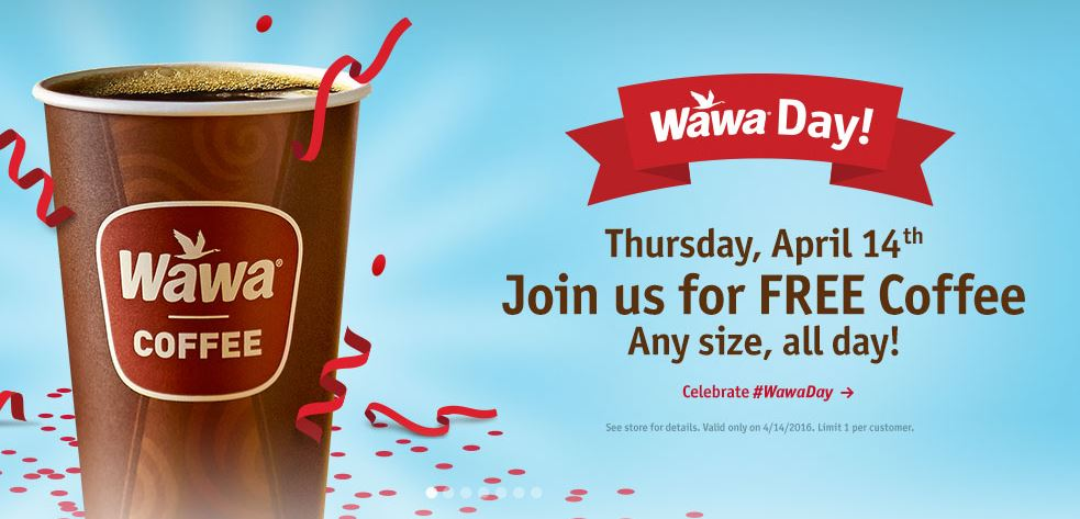 Wawa Day: Free Coffee any size TODAY only