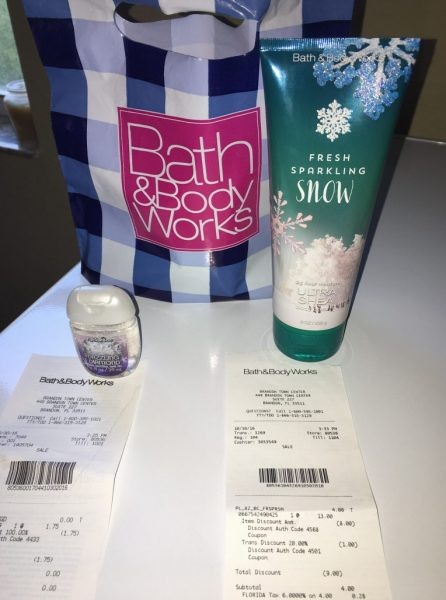 Bath & Body Works (OOP $4.28 and saved $10.75)