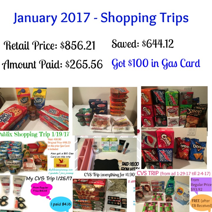 January 2017 Shopping Trips