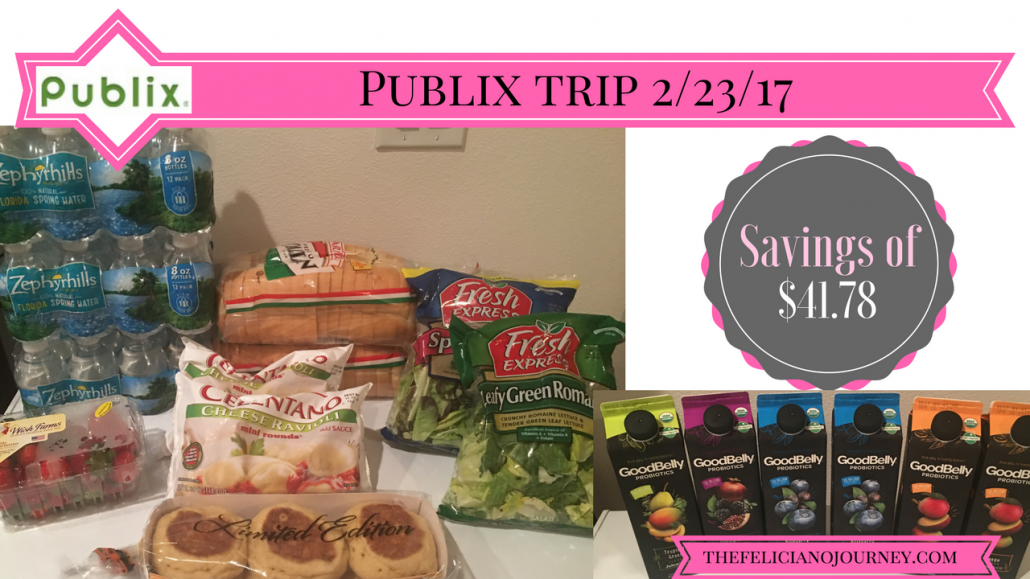 Publix Haul 2/23/17 – $16.96 from $58.73