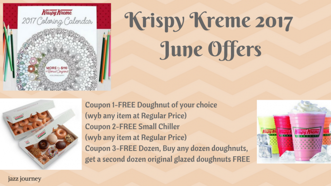 Krispy Kreme 2017 Calendar – June Coupons - The Feliciano Journey