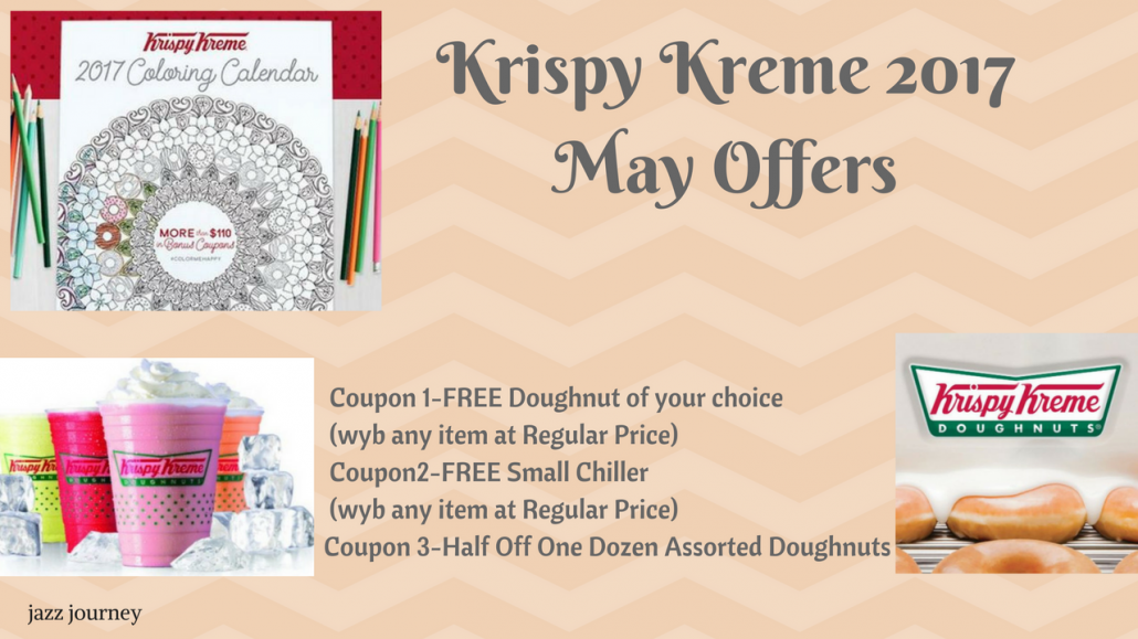 Krispy Kreme 2017 Calendar – May Coupons (reminder)