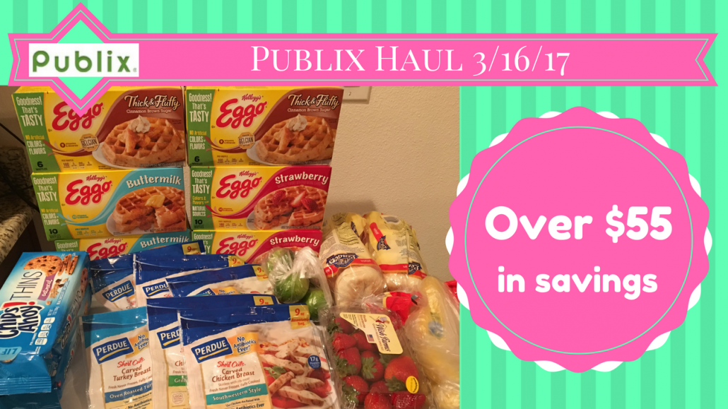 Publix Haul 3/16/17 – $18.26 from $74.06