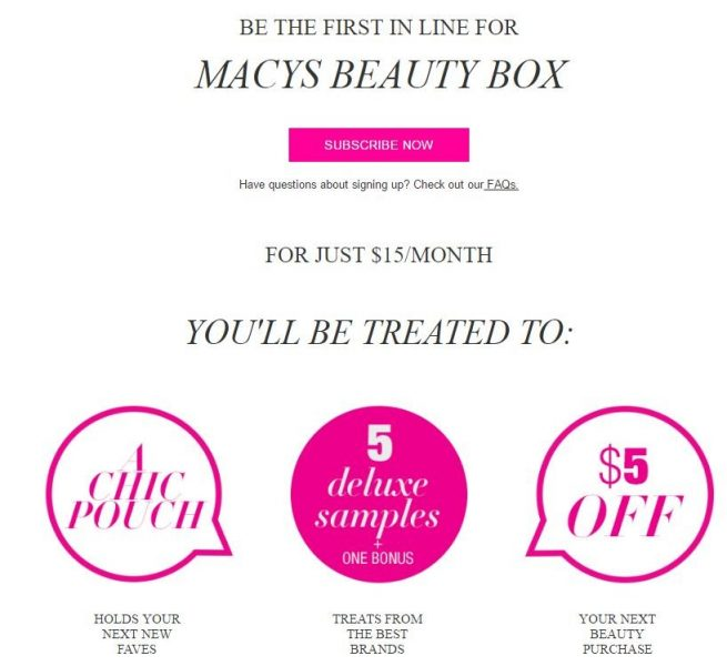 Macy's Beauty Box (New)