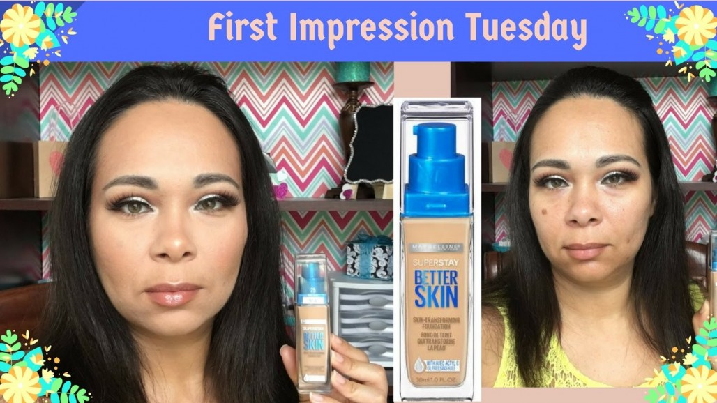 First Impression Maybelline SUPER STAY BETTER SKIN Foundation | Jazz Journey