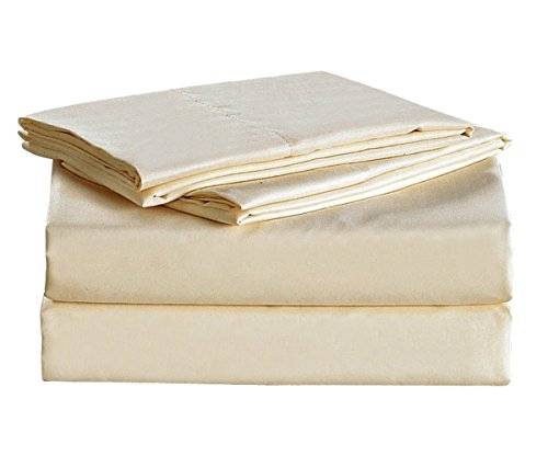 Dovedote 4 Piece 1600 Thread Count Microfiber Sheet Sets, Queen, Beige