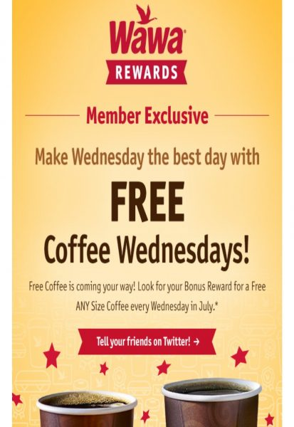 Wawa: Free Coffee Wednesday