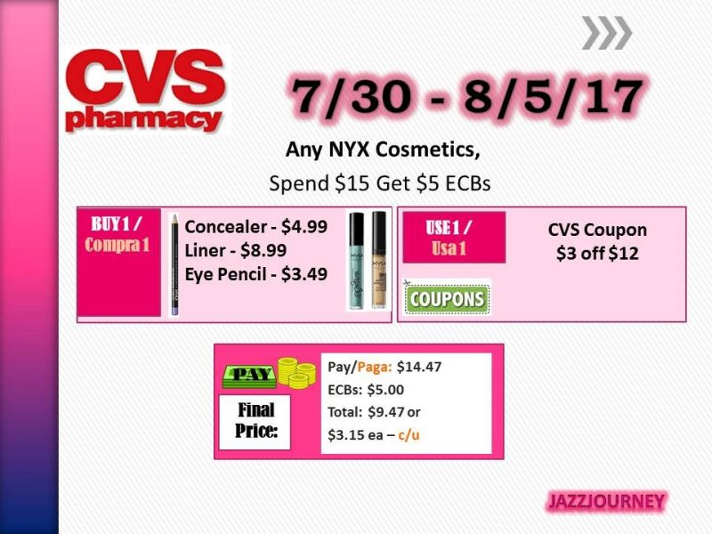 CVS: NYX Cosmetics as low as $3.15 (starting 7/30/17)