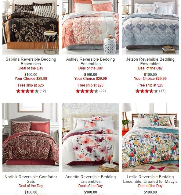 Macys: 8 piece Bed in a Bag (as low as $29.99) Regular $100