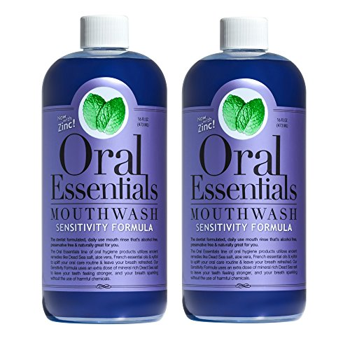 Oral Essentials Sensitive Teeth Mouthwash (Pack of 2) 16 Oz: Non-Toxic…