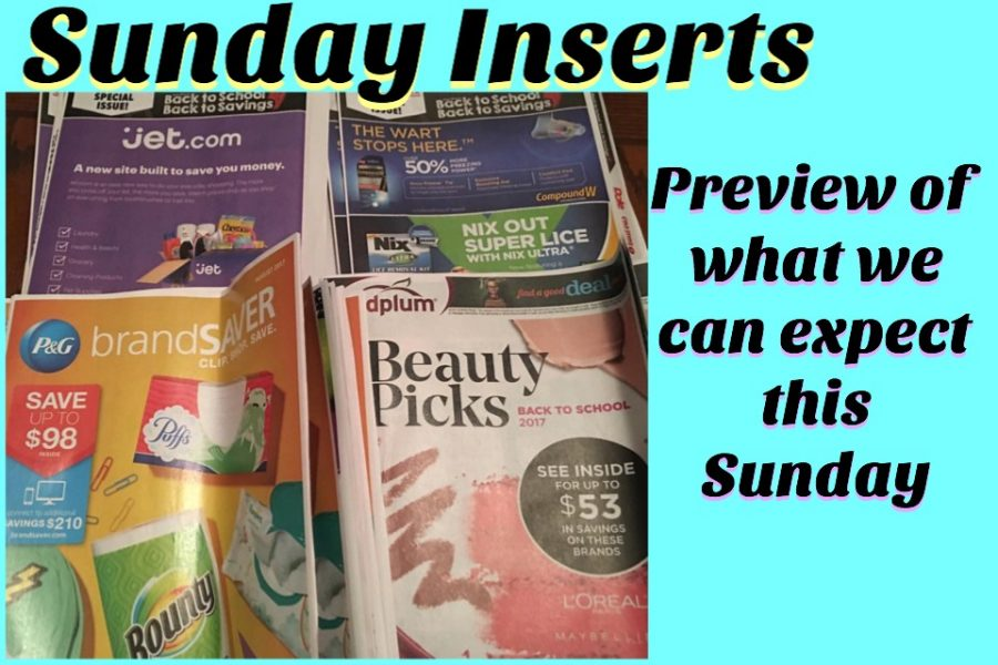 Sunday Inserts (2) – 1 SmartSource & 1 RedPlum (today)