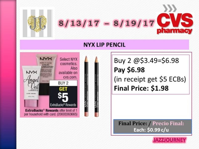 CVS: NYX Lip Pencil (upcoming ad 8/13) as low as $0.99 each