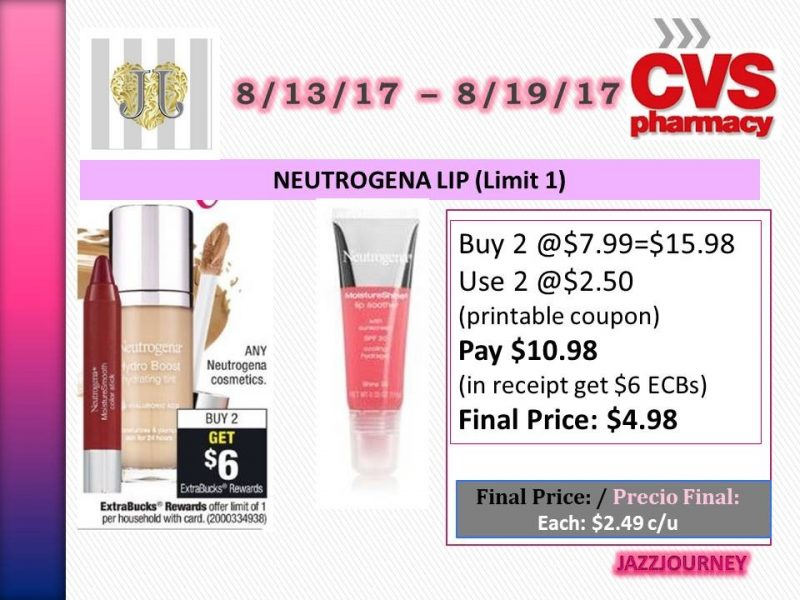 CVS: Neutrogena Lip (upcoming ad 8/13) as low as $2.49 each