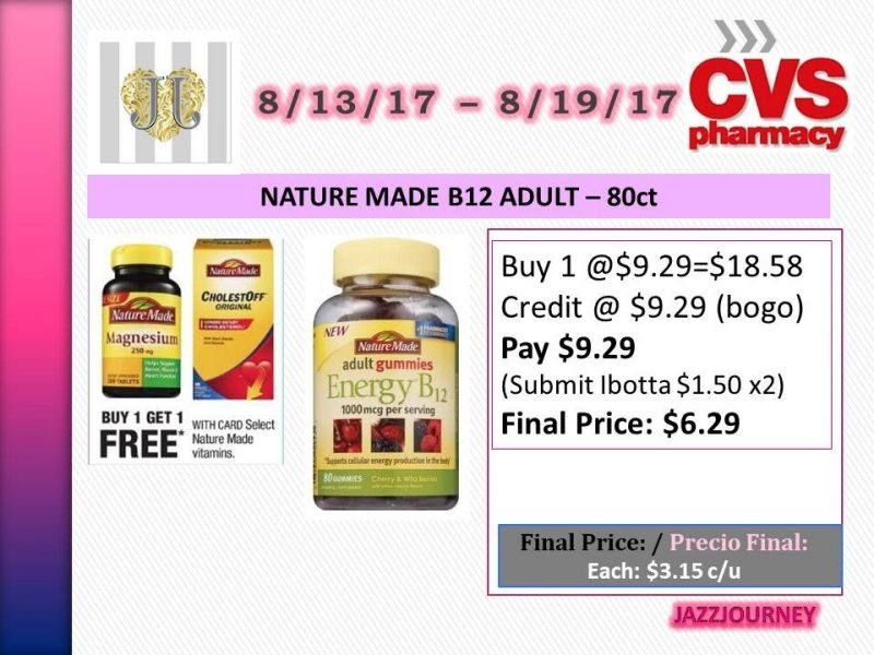 CVS: Nature Made B12 Adult Gummies (upcoming ad 8/13) as low as $3.15 each