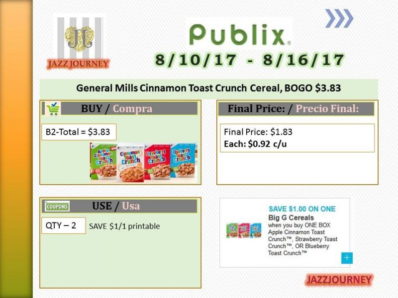 Publix: GM Cinnamon Toast Cereal (upcoming ad 8/10) as low as $0.92