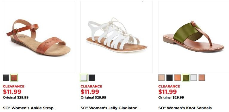 Kohl's: Women's Shoes (as low as $9) Reg $29.99