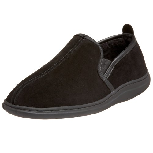 L.B. Evans Men's Klondike Closed Back Slipper,Black,8 M US