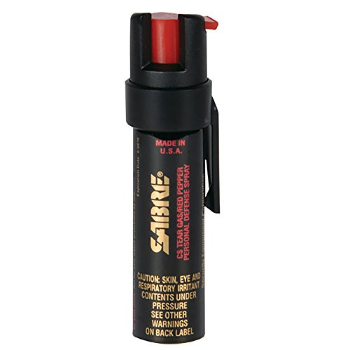 SABRE 3-IN-1 Pepper Spray – Police Strength – Compact Size with Clip (Max Protection – 35 …