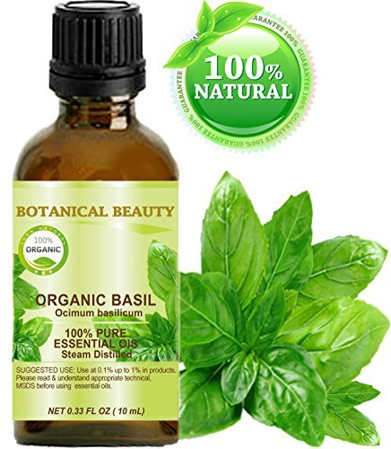 BASIL ESSENTIAL OIL ORGANIC. 100% Pure Therapeutic Grade, Premium Qual…