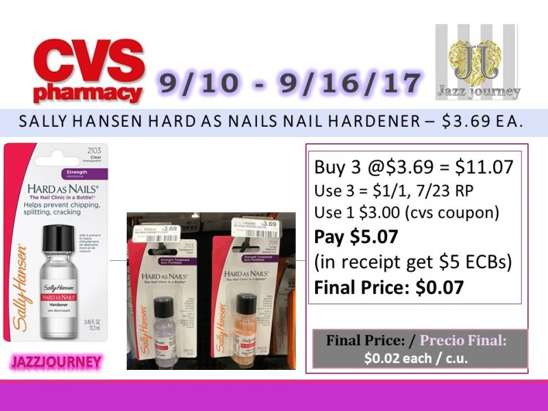 CVS: Sally Hansen (as low as $0.07 each) Starting 9/10/17