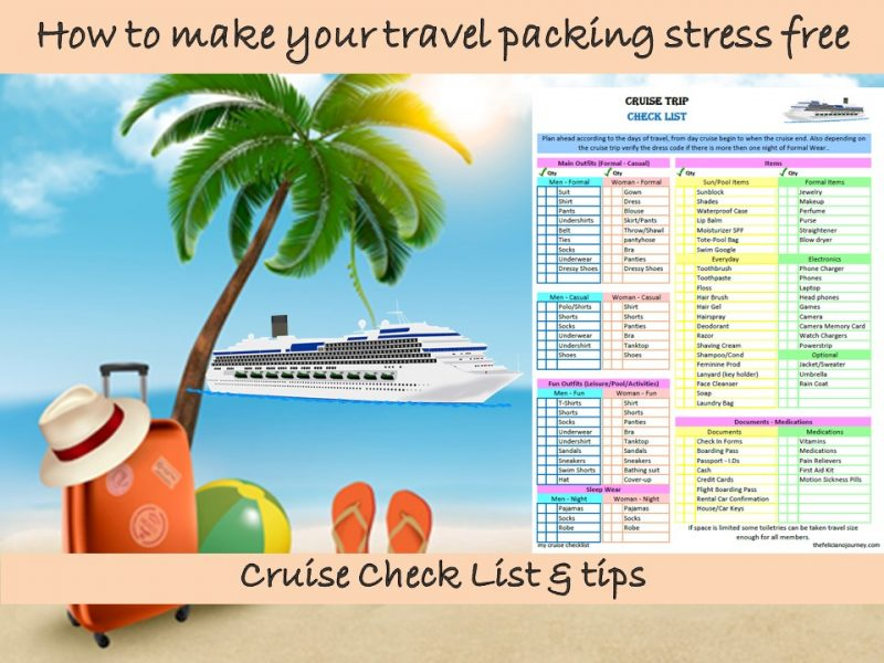 Vacation Cruise Check List (Free Printable)