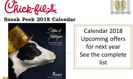 Chick Fil A Calendar 2018 (Sneak Peek & Free List Items)