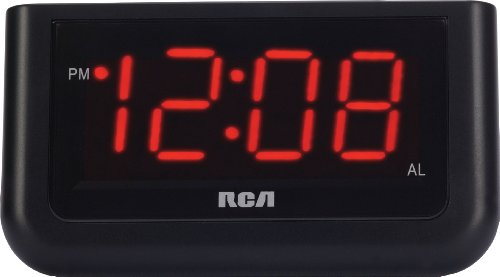 RCA Digital Alarm Clock with Large 1.4″ …